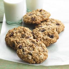 Chewy, fruity, and full of oatmeal goodness, this family-favorite cookie scores a special spot in our recipe box. To give it a homey aroma, we laced it with cinnamon and brown sugar.