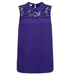 Lace is a key feature in occasionwear this season: the Mey lace top in vibrant violet features an elegant floral lace panel for a wearable approa… Shop> Long Blouse, Short Sleeve Blouse, Long Sleeve Tops, Occasion Wear, Summer Tops, Silk Top, Work Wear, Formal Dresses, Lace