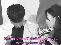 If I was him I'd be like *slap shut up little girl don't ever talk about your life that way. But of course Lay is sweet and not me so