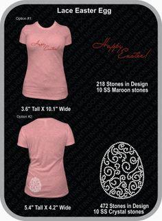 Easter Lace Egg Bling Rhinestone design by MoonlightingDesigns2, $8.50