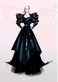 A sketch of Westwood's design for DiDonato.  Photo: Courtesy of Vivienne Westwood