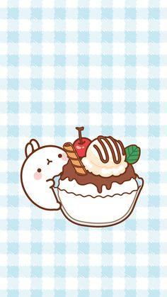 Molang ice cream sundae wallpaper