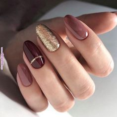 56 Perfect Almond Nail Art Designs for This Winter – The Best Nail Designs – Nail Polish Colors & Trends Classy Nail Art, Classy Nail Designs, Professional Nail Designs, Dark Nail Designs, Elegant Nails, Nail Art Designs, Almond Nail Art, Fall Almond Nails, Almond Gel Nails