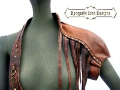 shoulder harness leather armor leather statement piece