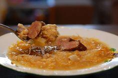 Fotorecept: Kapustovo fazuľová polievka s klobáskou Risotto, Macaroni And Cheese, Cooking, Ethnic Recipes, Food, Cucina, Kochen, Essen, Mac And Cheese