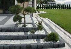 New Wall Design Exterior Walkways Ideas Modern Landscaping, Outdoor Landscaping, Front Yard Landscaping, Garden Retaining Wall, Garden Paving, Contemporary Landscape, Landscape Design, Scandinavian Garden, Home Building Design