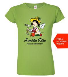 Tričko pro maminku vášnivou zahradnici. Tričko vytiskneme se jménem vaší maminky! T Shirts For Women, Mens Tops, Fashion, Moda, Fashion Styles, Fashion Illustrations