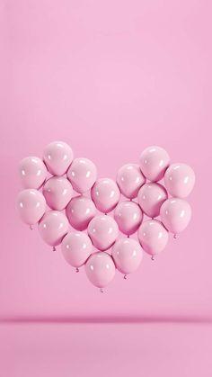 Pink Wallpaper Iphone, Heart Wallpaper, Tumblr Wallpaper, Aesthetic Iphone Wallpaper, Aesthetic Wallpapers, Flower Backgrounds, Wallpaper Backgrounds, Happy Birthday Wallpaper, Birthday Background