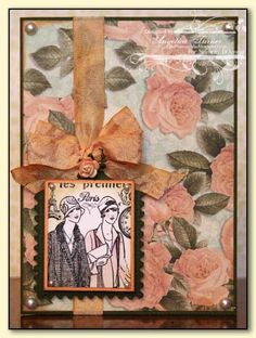 Paris Vintage Card