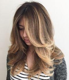 Layered Hair With Balayage