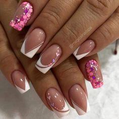 Best Acrylic Nails, Acrylic Nail Designs, Nail Art Designs, Nails Design, Gorgeous Nails, Love Nails, My Nails, Home Nail Salon, Valentine Nail Art