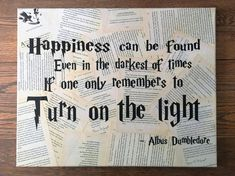 Harry Potter Wall Art - Your choice of quote - Book page Wall hanging - FREE Shipping in US
