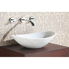 HOUSE PLUMBING WHITE MARBLE STONE VESSEL...FOYER POWDER ROOM Avanity Oval White Marble Stone Vessel Sink - Overstock™ Shopping - Great Deals on Bathroom Sinks
