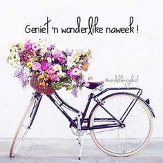 Pretty bicycle with flower arrangement Diy Flowers, Paper Flowers, Story Instagram, Instagram Posts, Cleaning Schedule Templates, Friday Messages, Good Morning Gorgeous, Goeie More, Good Morning Coffee