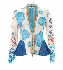 IVKO Floral Jacket with Embroidery, Short cardigan with embroidery in navy, white and red artistic design with buttons closure. Floral Jacket, Knitwear, Bell Sleeve Top, Blue And White, Embroidery, Vests, Sweaters, Aqua, Jackets