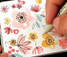 Likes, 59 Comments – Ohn Mar Win ( Simple Watercolour Mail Art – Maple Post Source by Illustration Watercolor Easy watercolor flower More Illustration WatercolorSource : Easy watercolor flower . Love the loose look of these watercolor flower doodles E Simple Watercolor Flowers, Drawing Flowers, Painting Flowers, Simple Watercolor Paintings, Watercolor Ideas, Watercolor Illustration Tutorial, Water Color Painting Easy, Simple Flower Painting, Watercolor Painting Tutorials