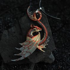 I'm back from Italy and soon there will be a big shop update! There will be all the new pendants colorations that I've showed you in the past week ^^ Dragon Necklace, Dragon Jewelry, Clay Dragon, Dragon Art, Colar Fashion, Fashion Jewelry, Small Dragon Tattoos, Magical Jewelry, Dragons