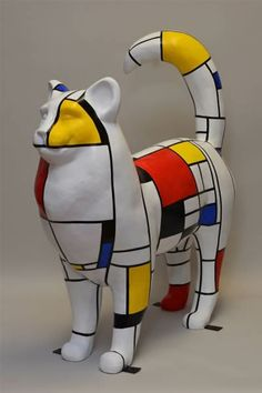 """""""FELINE MONDRIAN"""" by REBECCA HOFF (from the archives of the """"2011 Cat-n-Around Catskill Festival"""")"""