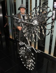 Rona Arad's sprung steel wheel bike. (Not the designer as such, naturally.)