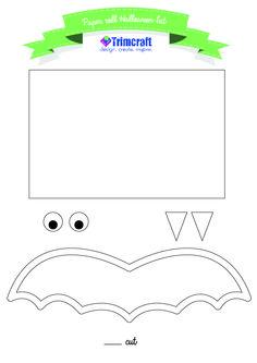 Toilet roll Halloween bat template