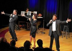 "From left, Jon Zimmerman, Melissa Jacobson and John Lariviere sing during ""You Made Me Love You,"" a tribute to singers Fanny Brice, Eddie Cantor and Al Jolson, now through Sept. 14 at The Plaza Theatre in Manalapan."