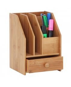 With the new financial year just around the corner get your desk looking good with these quirky accessories for the ultimate in office organisation. Office Organisation, Desktop Organization, Office Storage, Scrap Wood Projects, Woodworking Projects Diy, Diy Projects, Workspace Desk, Diy Desk, Computer Desk Design