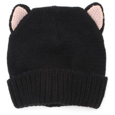 With Love From CA Kitty Beanie (€12) ❤ liked on Polyvore featuring accessories, hats, beanies, head, ivory, beanie hat, with love from ca, white winter hat, beanie cap hat and beanie caps