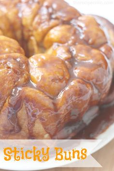 Sticky Buns at https://therecipecritic.com  These are absolutely amazing!  The caramelly glaze on top makes them so yummy!  Take them out the night before and have a delicious breakfast in the morning!