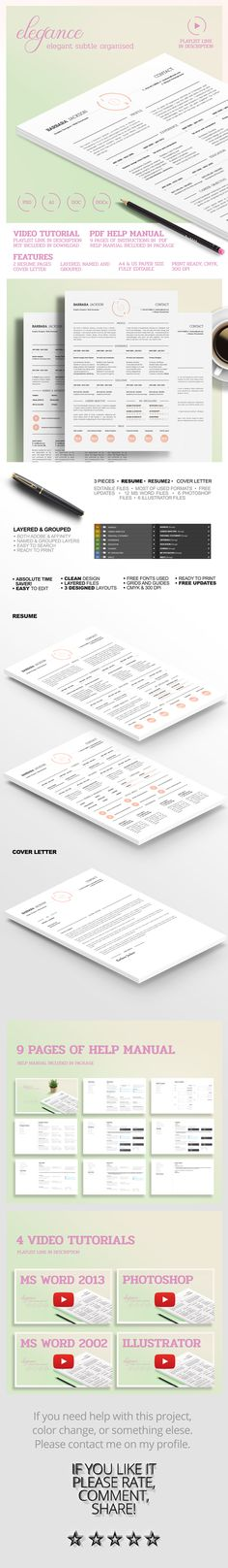 Elegant Style Resume and CV If, tyxgb76aj - good looking resumes