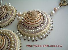 Best 11 Beaded shells – Page 426575395951456312 – SkillOfKing. Bead Embroidery Jewelry, Beaded Jewelry Patterns, Fabric Jewelry, Beaded Embroidery, Seashell Jewelry, Seashell Crafts, Sea Glass Crafts, Sea Crafts, Seashell Painting