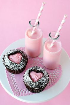 Fill your heart with love — literally! Use a heart-shaped cookie cutter to make a heart cutout on the top of a cupcake — and then fill it in with a little pink icing. Cupcakes are always sweet, but these Valentine's Day cupcakes are divine.