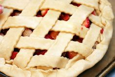 strawberry rhubarb :) the perfect spring pie.