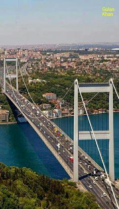 The Bosphorus Bridge Also Called The First Bosphorus