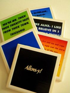 Doctor Who Quotes Coasters