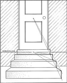 simple stairs in one-point perspective