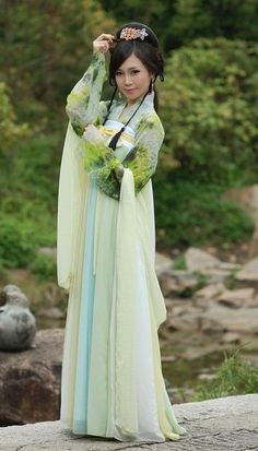 Spring Green Tang Style Ruqun