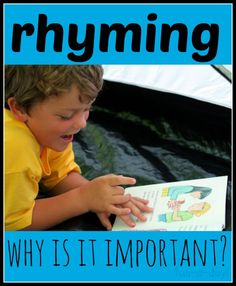 What is rhyming?  Why is it important to teach young children how to rhyme?  The first part of a five part rhyming series.
