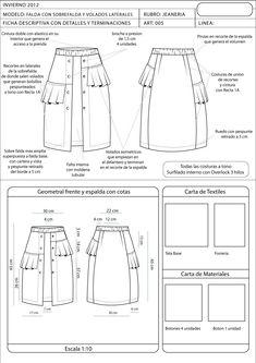 fichas tecnicas de faldas - Buscar con Google