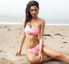 Twist Bandeau Bikini Set Beach Swimsuits