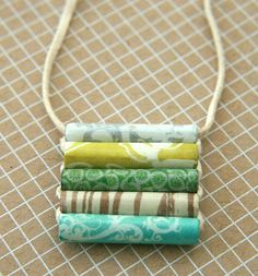Making paper beads with my students - I like this style