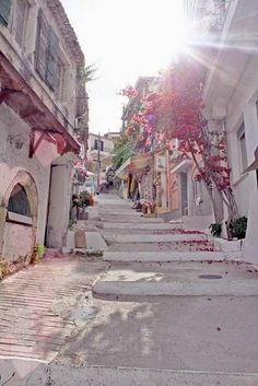 Santorini street, Greece