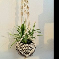 When there is small room for the placement of flowerpots, hanging flowerpots certainly are a excellent Option to ranking flowerpots. The plant pots must be solidly mounted in order that they can hang Modern Macrame, Modern Boho, Pot Hanger, Wall Hanger, Macrame Plant Holder, Plant Holders, Hygge, Wedding Plants, Grands Pots
