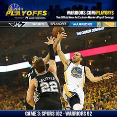 The Warriors fell down two games to one in the series tonight after losing to the Spurs 102-92 in Game 3. The Dubs kept it close throughout the game behind a full team effort, as six players scored in double figures. The Warriors will look to tie the series back up when Game 4 tips off on Sunday.