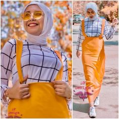 Colorful hijabi outfit ideas for summer – Just Trendy Girls Modern Hijab Fashion, Muslim Women Fashion, Modest Fashion, Modest Dresses, Modest Outfits, Modest Clothing, Nice Dresses, Hijab Style Tutorial, Smart Casual Wear