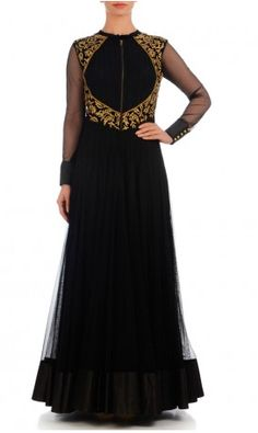 Black is taboo bt its a regal outfit....fit for the bride...customize in different colors...red, orange or may be in an ombre pattern.