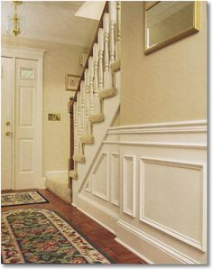 chair rails and frames on the walls | ... nothing beats the look of chair rail and wainscot paneling the look