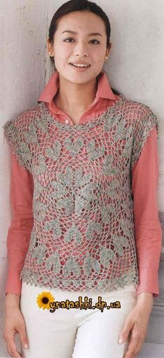 Crochet top ♥️LCT-MRS♥️ with diagrams.