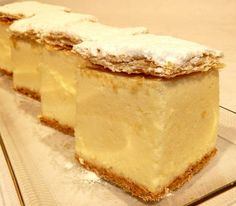 Recipe of the week: cream cake / krémes – Daily News Hungary Kremes Recipe, Candy Recipes, Cookie Recipes, Orange Zest Cake, Hungarian Recipes, Hungarian Food, Italian Desserts, Almond Recipes, Sweet Cakes