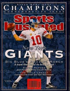 2011 Ny Giants Super Bowl 46 Xlvi Champions Sports Illustrated Commemorative