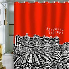 Bird Ave Nebraska Huskers Red Shower Curtain - $89